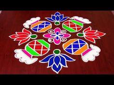 Simple New Bhogi Kundala Muggulu Simple Rangoli Designs Images, Rangoli Designs Flower, Rangoli Patterns, Rangoli Border Designs, Rangoli Ideas, Rangoli Designs Diwali, Rangoli Designs With Dots, Rangoli With Dots, Beautiful Rangoli Designs