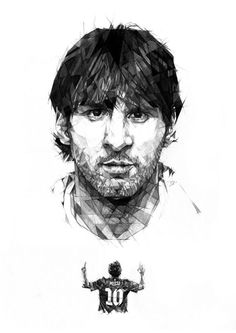 Leo Messi by Dave Merrell