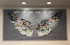 Follow your dreams - IRC Staff Garden Bulletin Boards, Literacy Bulletin Boards, Classroom Board, Classroom Crafts, School Presentation Ideas, Art Room Rules, School Murals, Art School, School Counselor Office