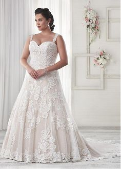 Marvelous Tulle Sweetheart Neckline A-line Plus Size Wedding Dresses with Sequins Lace Appliques