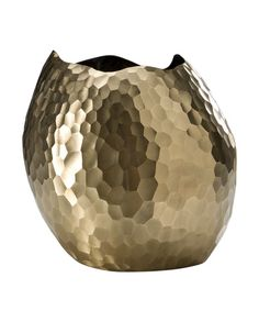 Large bronze facet vase by David Wiseman