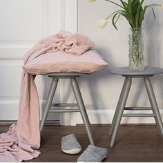 Herdis Pink Cushion Cover by Funky Doris - Fy Pink Cushion Covers, Pink Cushions, Diy Furniture, Outdoor Furniture, Patio Chairs, Kugel, Scandinavian Design, Comfy, Interior