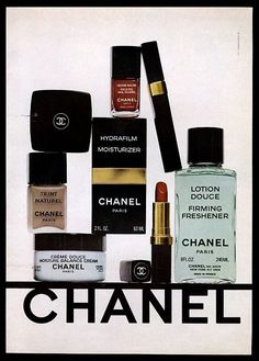 1978 Chanel hydrafilm frosted nail polish freshener creme photo vintage print ad