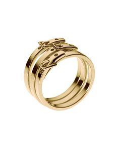 Skinny-Buckle Ring, Golden - Neiman Marcus