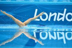 Ejercicio de natación sincronizada.| Afp