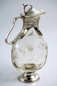 Art Nouveau Crystal Claret Jug. ca.1900.