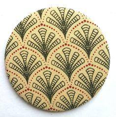 Vintage Laura Ashley Fabric Pocket Mirror  £4.99