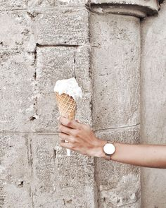 """Gelato perfect - Sardinia """"Coconut gelato 🍦 which gelato flavor is your favorite? Gelato Flavors, Sardinia Italy, Wood Watch, Coconut, Travel, Wooden Clock, Viajes, Trips, Traveling"""