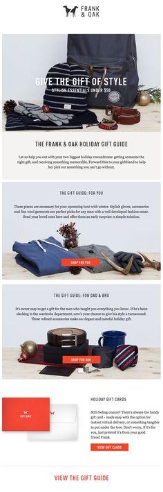 Frank & Oak : Gift Guide