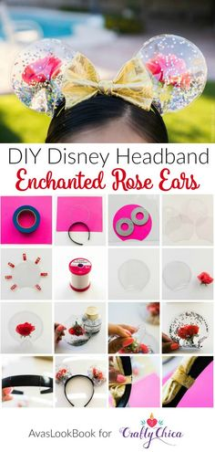 Ears: Enchanted Roses for Beauty and the Beast How to make Enchanted Rose Mickey Ears inspired by Beauty and the Beast! Meagan mora for .How to make Enchanted Rose Mickey Ears inspired by Beauty and the Beast! Meagan mora for . Diy Disney Ears, Disney Mickey Ears, Diy Mickey Mouse Ears, Disney Bows, Minnie Mouse Headband Ears, Mini Mouse Ears Diy, Micky Ears, Minnie Mouse Christmas, Disney 2017