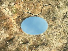 Andrew McDonald Artist : Mirror Pool. An outdoor land art installation piece.