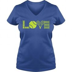 Awesome Tennis Lovers Tee Shirts Gift for you or your family member and your friend:  LOVE TENNIS Tee Shirts T-Shirts