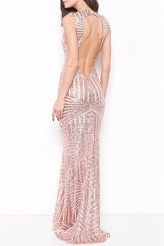 Adrian Sequined Dress in Rose Gold (Pre-order) – ROUTE 32