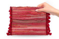 Χειροποίητο τσαντάκι από κουρελού με φουντίτσες. - Handmade small kourelou  bag with tassels. 8fc0044b46c