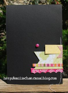 black and colors card