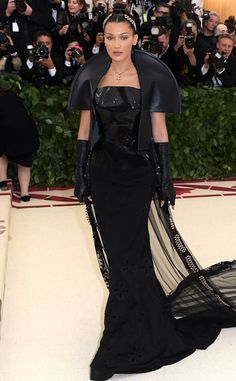 Bella Hadid from Met Gala 2018: Best Dressed Stars to the Hit the Red Carpet The supermodel channel the Evil Queen in the most high fashion way.
