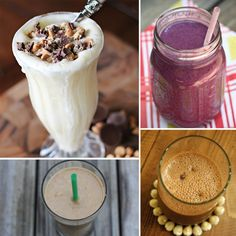 Delicious Protein Smoothies.  I've been drinking the same protein smoothie everyday for months now.  This pin is Ah-mazing!