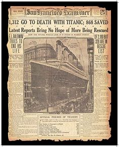 Titanic Tragedy.
