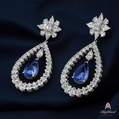 Alaghband's Blue Sapphire Earrings Reflect the Beauty and Strength of Diamonds... #alaghband #alaghbandsapphires #alaghbandcolors #earrings #2017