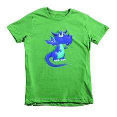 Draco Blue Green Short sleeve kids t-shirt