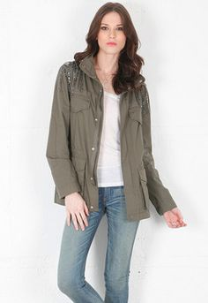 Haute Hippie Military Anorak in Military on shopstyle.com
