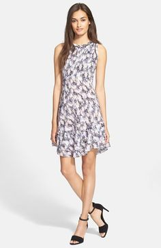 Rebecca Taylor Abstract Print Sleeveless Dress available at #Nordstrom