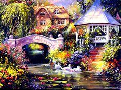 Jim Mitchell's Painting Cottage Charm 6 - wallcoo.old.wallcoo.net