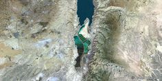 Dead Sea, Middle East  – PlanetSAT 15 satellite image (Resolution: 150m)