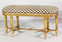 Louis XVI Style Giltwood Banquette