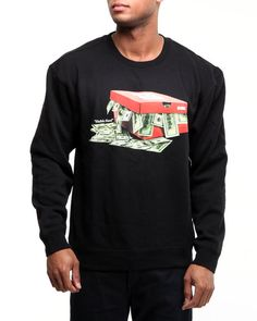 25d0304b9ee9 Dgk Men Hustle Hard Crew Fleece Sweatshirt - Sweatshirts   Sweaters