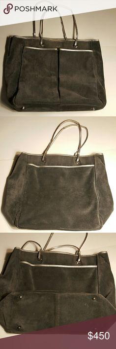 Anya Hindmarch Grey Suede Large Tote Just In!!!!!!   Absolutely stunning Anya Hindmarch Tote.  Very little use.  I will measure soon Anya Hindmarch Bags Totes