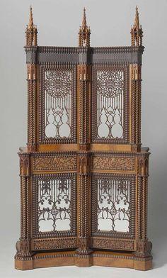 Gabinete de plata, Jan Adolf Hillebrand de 1844 El joven ebanista Ene Hillebrand aparece este mueble de estilo gótico como una obra maestra en la exposición 1844.