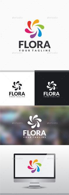 Flora Logo Design Template Vector #logotype Download it here: http://graphicriver.net/item/flora-logo/11378219?s_rank=877?ref=nesto