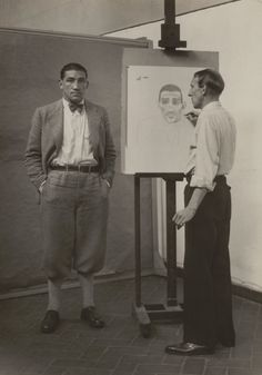 The Painter Heinrich Hörle Drawing the Boxer Hein Domgören, c.  1927-31 August Sander