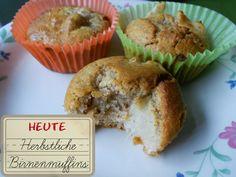 Herbstliche Birnen Muffins #halloherbst13