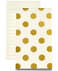 kate spade new york Gold Dots Notepad - Handbags & Accessories - Macy's