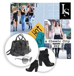 """""""A Classic City Day"""" by look-shop ❤ liked on Polyvore featuring Prada, Alexander McQueen, Tom Ford, chic, handbag, sunglass and Shoe"""