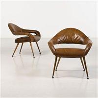 Modèle DU 55P, Paire de fauteuils by Gastone Rinaldi