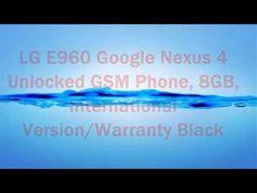 LG E960 Google Nexus 4 Unlocked GSM Phone, 8GB, International Version/Warranty Black
