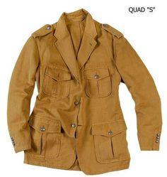 """Veste """"SLACK"""" style SAFARI modèle QUAD pour homme en Coton-Lin couleur Tan, non doublée, 3 boutons, 4 poches / """"SAFARI"""" style QUAD model, Cotton-Linen, 1 central back vent, 3 buttons, 4 pockets #menswear #jkeydge #slackjacket #slackmania #ivyleague #cool #casualchic #chino #jeans"""
