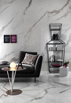 Slimtech effetto marmo in grande formato (3 metri x 1) con uno spessore di 5,5mm in gres laminato UGL, trattata con protezione antibatterica Microban®.