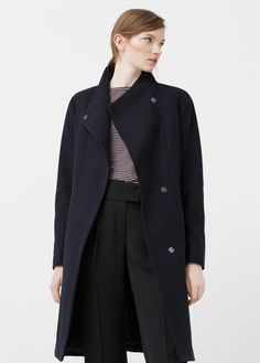 Belt wool coat