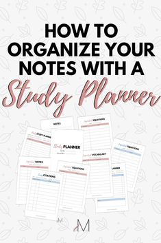 If you want to start taking better notes this study planner is your ultimate solution! #studynotes #studytips