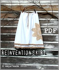 Reinvention Skirt PDF by Maya Made - the cutest skirts made out of old T-shirts. #thevanillabeanblog