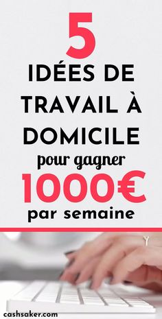 5 Ideas for working from home to earn € per Idées de travail à domicile pour gagner par semaine These ideas are valid and reliable. After reading this article, you will be able to choose a business idea that best fits your lifestyle and skills. Start A Business From Home, Work From Home Jobs, Starting A Business, Make Money From Home, Way To Make Money, Make Money Online, Learn Online, News Online, Online Jobs