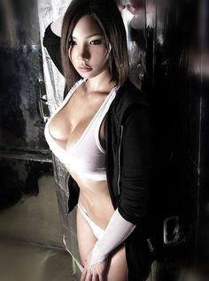 Hot Busty Asian Wearing White Tank Top