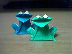 カエルの折り方 frog - YouTube