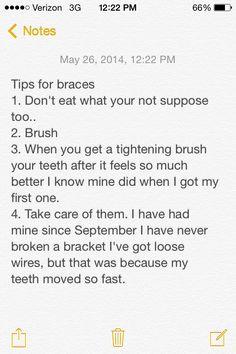 Conseils pour les bretelles - Dentistry and teeth - Braces Dental Braces, Teeth Braces, Braces Problems, Braces Tips, Misaligned Teeth, Cute Braces, Getting Braces, Invisible Braces, Braces Colors