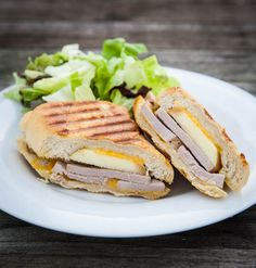 Apple Cheddar and Pork Loin Panini INGREDIENTS: 1 Smithfeild Rosemary and Olive Oil pork tenderloin, prepared according to package directions and sliced 1 Fuji apple, sliced 8 sliced cheddar cheese 1 crusty baguette olive oil