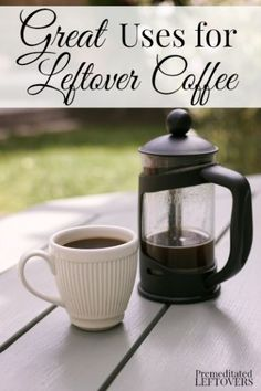 Don't throw that leftover coffee down the drain! There are so many uses for leftover coffee around your house from plant care to brownies!